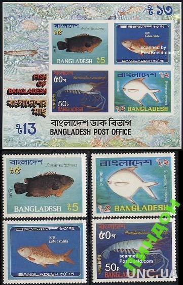 Бангладеш 1983 морская фауна рыбы ** о