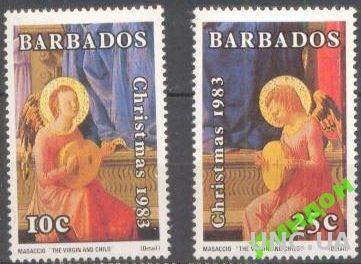 Барбадос 1983 Рождество живопись религия ** о