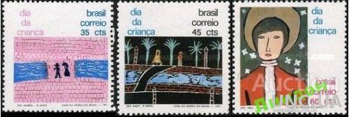 Бразилия 1971 День дети рисунки живопись ** о