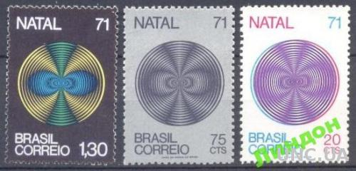 Бразилия 1971 Рождество религия живопись ** о