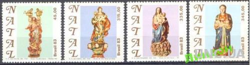Бразилия 1983 Рождество религия скульптура ** о