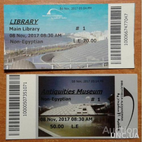 Египет билеты библиотека Александрия + музеи