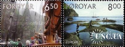 Фареры 2004 Европа Септ праздники природа горы флот корабли ** с