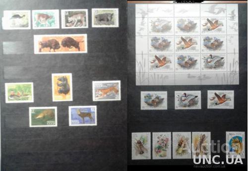 Фауна СССР 1967-1991 Альбом кляссер для марок 12 листов = 24 страниц + калька + чехол пр-во ПНР
