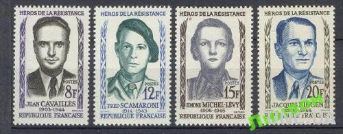 Франция 1958 антифашисты люди война **