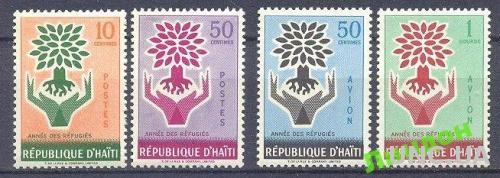 Гаити 1960 Год беженцев деревья флора 4м ** о