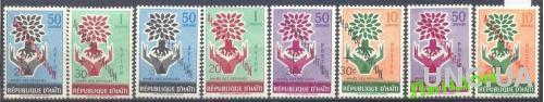 Гаити 1960 Год беженцев деревья флора 8м ** о