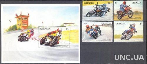 Гренада 1985 мотоциклы ралли спорт ** о