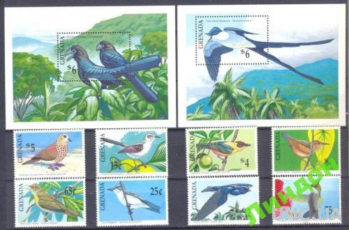 Гренада 1990 птицы фауна ** о
