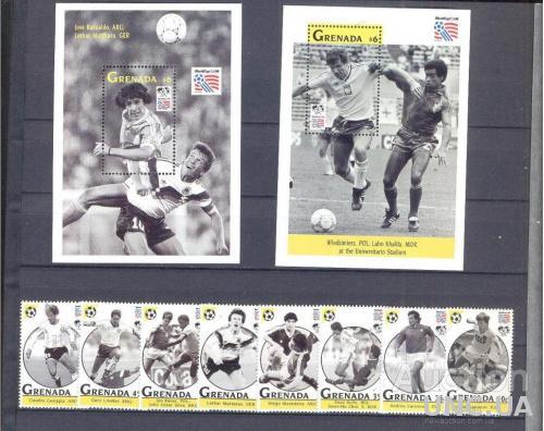 Гренада 1993 спорт футбол ЧМ ** о