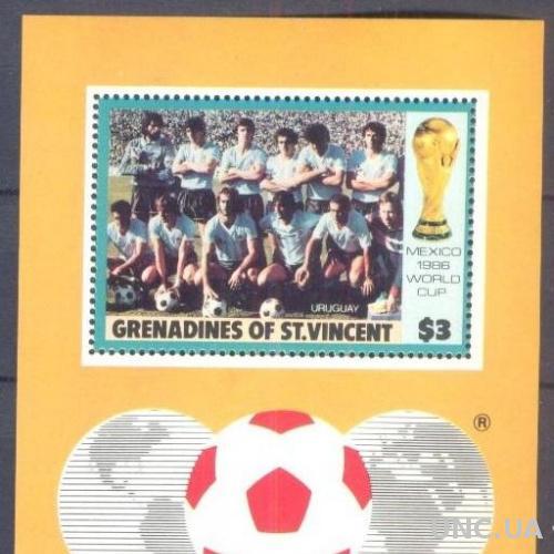 Гренадины Ст Винсент 1986 2 блока спорт футбол ЧМ ** о
