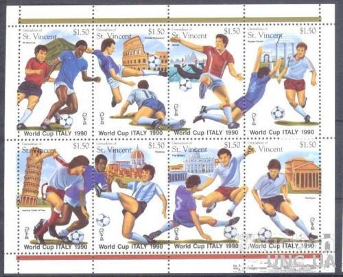 Гренадины Ст Винсент 1989 м/лист спорт футбол ЧМ ** о