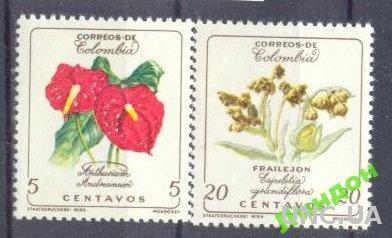 Колумбия 1960 2м цветы флора ** о