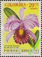 Колумбия 1965 орхидеи цветы флора ** о