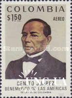 Колумбия 1972 президент Б. Хуарес люди политика авиапочта ** о