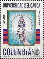 Колумбия 1977 университет ВУЗ школа факел ** о