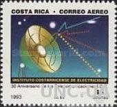 Коста Рика 1993 связь космос ** ар