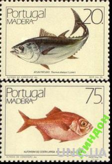 Мадейра 1986 морская фауна рыбы ** о