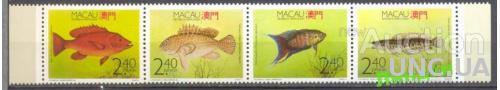 Макао 1990 морская фауна рыбы ** о