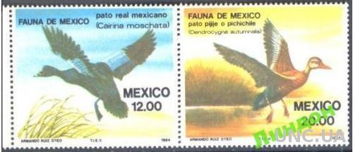 Мексика 1984 фауна птицы утки **