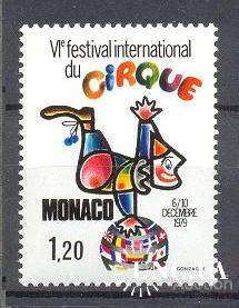 Монако 1979 Цирк клоун ** о