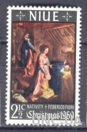 Ниуэ 1969 Рождество религия живопись ** о