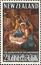 Новая Зеландия 1967 Рождество живопись религия ** м