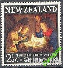 Новая Зеландия 1968 Рождество живопись религия ** о