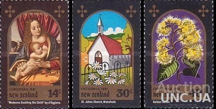Новая Зеландия 1981 Рождество живопись религия ** м