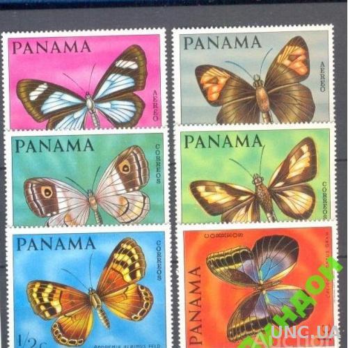 Панама 1968 фауна бабочки насекомые ** о