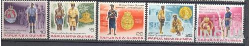 Папуа НГ 1978 армия полиция униформа фалеры эмблемы ** о