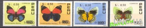 Перу 1992 фауна бабочки надп-ка ** о