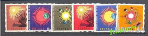 Польша 1965 космос астрономия планеты Год спокойного Солнца ** о