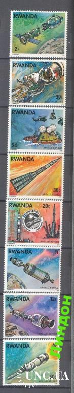 Марка Руанда 1976 Союз-Аполлон СССР космос ** о