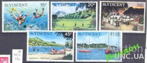 Ст Винсент 1975 туризм морская фауна гольф флот яхты **
