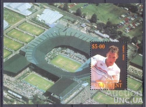 Ст Винсент 1988 спорт олимпиада теннис блок ** о