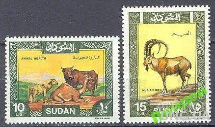 Судан 1991 фауна коровы верблюды ** о