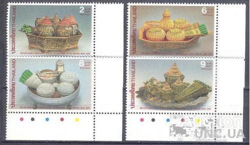 Таиланд 1994 Неделя письма Принадлежности для письма искусство узоры этнос  ** о