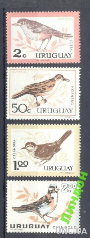 Уругвай 1963 птицы фауна ** о