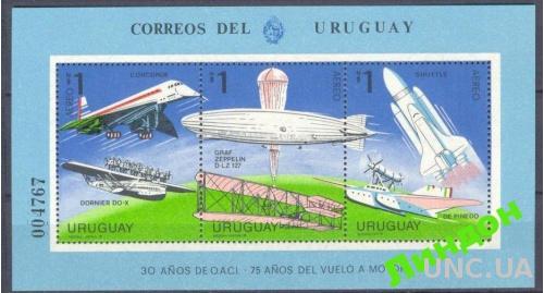 Уругвай 1978 космос дирижабл самолеты авиация ** о