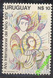 Уругвай 1979 Рождество живопись религия ** о