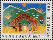Венесуэла 1983 Рождество религия живопись дети рисунки ** м