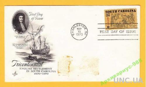ИСТОРИЯ 1970 США Корабль Парусник ВМФ Король КПД