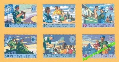 ПРАВА ЧЕЛОВЕКА 1998 ООН Выборы Полная серия MNH**