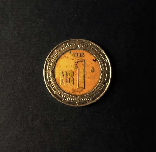 Мексика 1 песо 1992 год