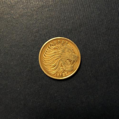 Эфиопия 5 центов 1969 год