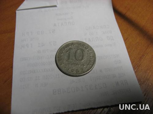 Аргентина 10 сентавос 1952
