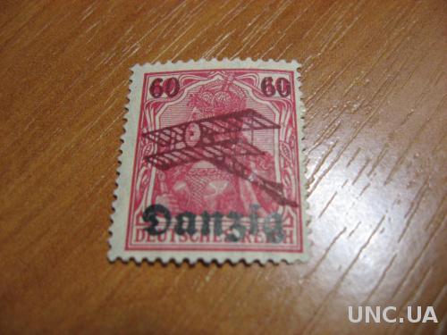 Марка 1 рейх Данцинг 60 пф негашеная надпечатка