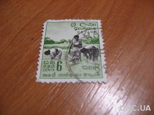 Марка Цейлон  МNН 6 центов