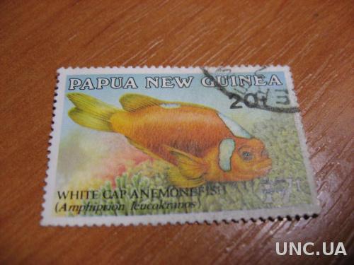 Марка Папуа Новая Гвинея 20 тоя